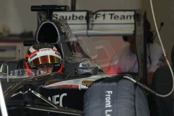 World © Octane Photographic Ltd. Formula 1 - Young Driver Test - Silverstone. Thursday 18th July 2013. Day 2. Sauber C32 - Nico Hülkenberg. Digital Ref : 0753lw1d6423