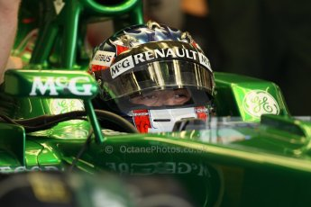 World © Octane Photographic Ltd. Formula 1 - Young Driver Test - Silverstone. Thursday 18th July 2013. Day 2. Caterham F1 Team CT03 – Will Stevens. Digital Ref : 0753lw1d6484