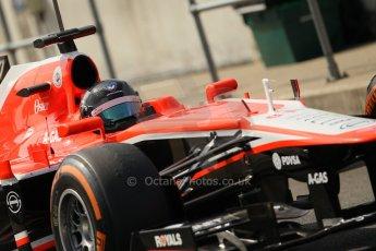 World © Octane Photographic Ltd. Formula 1 - Young Driver Test - Silverstone. Thursday 18th July 2013. Day 2. Marussia F1 Team MR02 - Rodolfo Gonzalez. Digital Ref : 0753lw1d6503