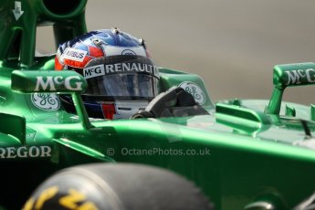 World © Octane Photographic Ltd. Formula 1 - Young Driver Test - Silverstone. Thursday 18th July 2013. Day 2. Caterham F1 Team CT03 – Will Stevens. Digital Ref :  0753lw1d6535