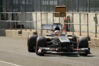 World © Octane Photographic Ltd. Formula 1 - Young Driver Test - Silverstone. Thursday 18th July 2013. Day 2. Sauber C32 - Nico Hülkenberg. Digital Ref : 0753lw1d6539
