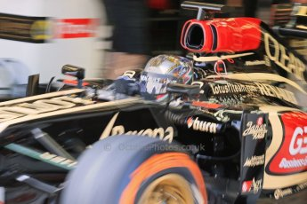 World © Octane Photographic Ltd. Formula 1 - Young Driver Test - Silverstone. Thursday 18th July 2013. Day 2. Lotus F1 Team E21 - Davide Valsecchi. Digital Ref : 0753lw1d9094
