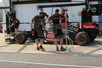 World © Octane Photographic Ltd. Formula 1 - Young Driver Test - Silverstone. Thursday 18th July 2013. Day 2. Lotus F1 Team E21 - Davide Valsecchi. Digital Ref : 0753lw1d9162