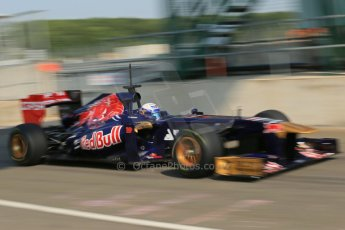 World © Octane Photographic Ltd. Formula 1 - Young Driver Test - Silverstone. Thursday 18th July 2013. Day 2. Scuderia Toro Rosso STR8 - Daniel Ricciardo. Digital Ref : 0753lw1d9206