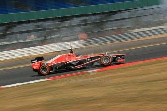 World © Octane Photographic Ltd. Formula 1 - Young Driver Test - Silverstone. Thursday 18th July 2013. Day 2. Marussia F1 Team MR02 - Rodolfo Gonzalez. Digital Ref : 0753lw1d9372
