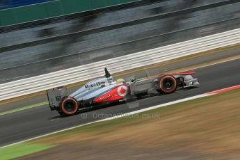 World © Octane Photographic Ltd. Formula 1 - Young Driver Test - Silverstone. Thursday 18th July 2013. Day 2. Vodafone McLaren Mercedes MP4/28 - Oliver Turvey. Digital Ref : 0753lw1d9397