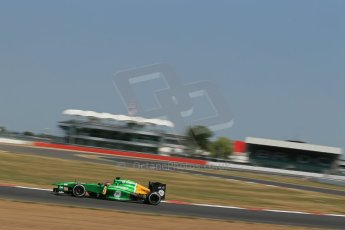 World © Octane Photographic Ltd. Formula 1 - Young Driver Test - Silverstone. Thursday 18th July 2013. Day 2. Caterham F1 Team CT03 – Will Stevens. Digital Ref : 0753lw1d9479