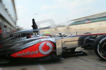 World © Octane Photographic Ltd. Formula 1 - Young Driver Test - Silverstone. Thursday 18th July 2013. Day 2. Vodafone McLaren Mercedes MP4/28 - Oliver Turvey. Digital Ref : 0753lw1d9585