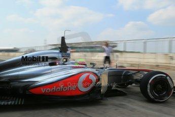 World © Octane Photographic Ltd. Formula 1 - Young Driver Test - Silverstone. Thursday 18th July 2013. Day 2. Vodafone McLaren Mercedes MP4/28 - Oliver Turvey. Digital Ref : 0753lw1d9587