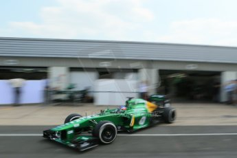 World © Octane Photographic Ltd. Formula 1 - Young Driver Test - Silverstone. Thursday 18th July 2013. Day 2. Caterham F1 Team CT03 – Will Stevens. Digital Ref : 0753lw1d9644