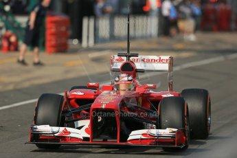 World © Octane Photographic Ltd. Formula 1 - Young Driver Test - Silverstone. Wednesday 17th July 2013. Day 1. Scuderia Ferrari F138 - Davide Rigon. Digital Ref : 0752lw1d8512