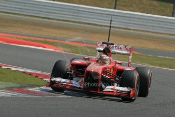 World © Octane Photographic Ltd. Formula 1 - Young Driver Test - Silverstone. Wednesday 17th July 2013. Day 1. Scuderia Ferrari F138 - Davide Rigon. Digital Ref : 0752lw1d8687