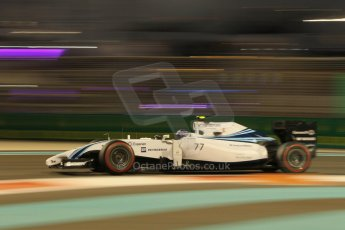 World © Octane Photographic Ltd. Friday 21st November 2014. Abu Dhabi Grand Prix - Yas Marina Circuit - Formula 1 Practice 2. Williams Martini Racing FW36 – Valtteri Bottas. Digital Ref: 1161CB1D7305