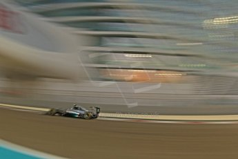 World © Octane Photographic Ltd. Friday 21st November 2014. Abu Dhabi Grand Prix - Yas Marina Circuit - Formula 1 Practice 2. Mercedes AMG Petronas F1 W05 - Nico Rosberg. Digital Ref: 1161CB7D8057