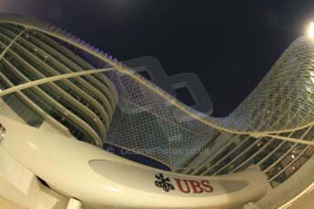 World © Octane Photographic Ltd. Friday 21st November 2014. Abu Dhabi Grand Prix - Yas Marina Circuit - Formula 1 Practice 2. Yas Viceroy hotel. Digital Ref: 1161CB7D8195