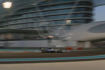 World © Octane Photographic Ltd. Friday 21st November 2014. Abu Dhabi Grand Prix - Yas Marina Circuit - Formula 1 Practice 2. Mercedes AMG Petronas F1 W05 - Nico Rosberg. Digital Ref: 1161LB1D4911