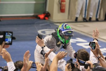 World © Octane Photographic Ltd. Sunday 23rd November 2014. Abu Dhabi Grand Prix - Yas Marina Circuit - Formula 1 Podium. Williams Racing - Felipe Massa (2nd). Digital Ref: 1173CB1D0307