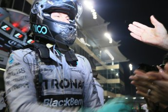 World © Octane Photographic Ltd. Sunday 23rd November 2014. Abu Dhabi Grand Prix - Yas Marina Circuit - Formula 1 Podium. Mercedes AMG Petronas – Nico Rosberg. Digital Ref: 1173LB1D7659
