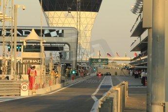 World © Octane Photographic Ltd. 2014 Formula 1 Abu Dhabi Grand Prix, F1 Qualifying, Saturday 22nd November 2014. Digital Ref : 1166CB1D8183