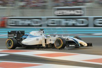World © Octane Photographic Ltd. 2014 Formula 1 Abu Dhabi Grand Prix, F1 Qualifying, Saturday 22nd November 2014. Williams Racing FW36 – Felipe Massa. Digital Ref : 1166CB1D8218