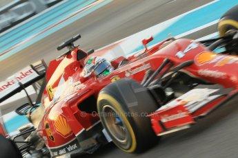 World © Octane Photographic Ltd. 2014 Formula 1 Abu Dhabi Grand Prix, F1 Qualifying, Saturday 22nd November 2014. Scuderia Ferrari F14T - Fernando Alonso. Digital Ref : 1166CB1D8301