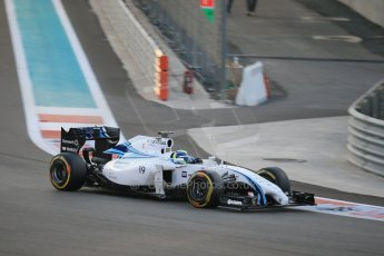 World © Octane Photographic Ltd. Saturday 22nd November 2014. Abu Dhabi Grand Prix - Yas Marina Circuit - Formula 1 Qualifying. Williams Martini Racing FW36 – Felipe Massa. Digital Ref: 1166LB1D0780
