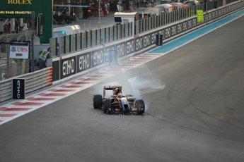 World © Octane Photographic Ltd. Saturday 22nd November 2014. Abu Dhabi Grand Prix - Yas Marina Circuit - Formula 1 Qualifying. Lotus F1 Team E22 – Pastor Maldonado. Digital Ref: 1166LB1D0843