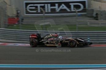 World © Octane Photographic Ltd. Saturday 22nd November 2014. Abu Dhabi Grand Prix - Yas Marina Circuit - Formula 1 Qualifying. Lotus F1 Team E22 –Romain Grosjean. Digital Ref: 1166LB1D1084