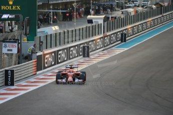 World © Octane Photographic Ltd. Saturday 22nd November 2014. Abu Dhabi Grand Prix - Yas Marina Circuit - Formula 1 Qualifying. Scuderia Ferrari F14T – Kimi Raikkonen. Digital Ref: 1166LB1D1167