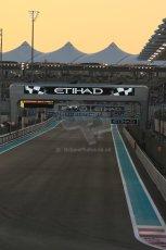 World © Octane Photographic Ltd. Saturday 22nd November 2014. Abu Dhabi Grand Prix - Yas Marina Circuit - Formula 1 Qualifying. Start/ finish straight. Digital Ref: 1166LB1D1173