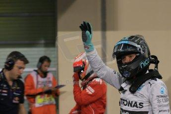 World © Octane Photographic Ltd. 2014 Formula 1 Abu Dhabi Grand Prix, F1 Qualifying, Saturday 22nd November 2014. Mercedes AMG Petronas F1 W05 - Nico Rosberg. Digital Ref : 1166LB1D1547