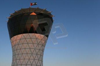 World © Octane Photographic Ltd. Saturday 22nd November 2014. Abu Dhabi Grand Prix - Yas Marina Circuit - Formula 1 Qualifying. Turn 1 building Digital Ref: 1166LB1D6059