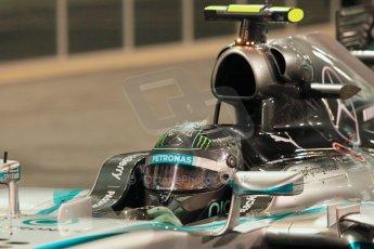 World © Octane Photographic Ltd. 2014 Formula 1 Abu Dhabi Grand Prix, F1 Qualifying, Saturday 22nd November 2014. Mercedes AMG Petronas F1 W05 - Nico Rosberg. Digital Ref : 1166LW1L8399