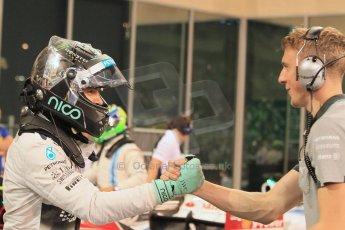 World © Octane Photographic Ltd. 2014 Formula 1 Abu Dhabi Grand Prix, F1 Qualifying, Saturday 22nd November 2014. Mercedes AMG Petronas F1 W05 - Nico Rosberg. Digital Ref : 1166LW1L8439