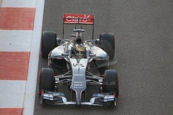 World © Octane Photographic Ltd. Sunday 23rd November 2014. Abu Dhabi Grand Prix - Yas Marina Circuit - Formula 1 Race. Sauber C33 – Adrian Sutil on his out lap from the pits. Digital Ref: