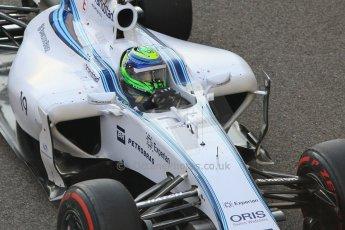 World © Octane Photographic Ltd. Sunday 23rd November 2014. Abu Dhabi Grand Prix - Yas Marina Circuit - Formula 1 Race. Williams Racing FW36 – Felipe Massa on his out lap from the pits. Digital Ref: