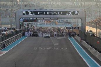 World © Octane Photographic Ltd. Sunday 23rd November 2014. Abu Dhabi Grand Prix - Yas Marina Circuit - Formula 1 Race. F1 grid start preparations. Digital Ref:
