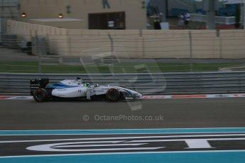 World © Octane Photographic Ltd. Sunday 23rd November 2014. Abu Dhabi Grand Prix - Yas Marina Circuit - Formula 1 Race. Williams Racing FW36 – Felipe Massa. Digital Ref: