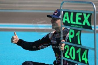 World © Octane Photographic Ltd. Sunday 23rd November 2014. Abu Dhabi Grand Prix - GP2 and GP3 champions photo shoot. Alex Lynn - Carlin - GP3 Champion. Digital Ref: 1168CB1D6396