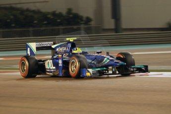 World © Octane Photographic Ltd. 2014 Formula 1 Abu Dhabi Grand Prix, GP2 Qualifying, Friday 21st November 2014. Julian Leal - Carlin. Digital Ref : 1162CB1D7354