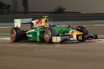 World © Octane Photographic Ltd. 2014 Formula 1 Abu Dhabi Grand Prix, GP2 Qualifying, Friday 21st November 2014. Pierre Gasly – Caterham Racing. Digital Ref : 1162CB1D7422