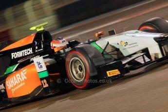World © Octane Photographic Ltd. 2014 Formula 1 Abu Dhabi Grand Prix, GP2 Qualifying, Friday 21st November 2014. Jon Lancaster - Hilmer Motorsport. Digital Ref : 1162CB1D7427