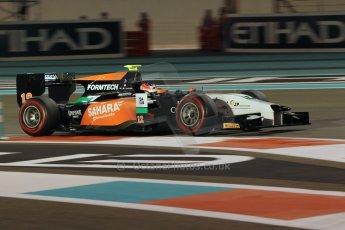 World © Octane Photographic Ltd. 2014 Formula 1 Abu Dhabi Grand Prix, GP2 Qualifying, Friday 21st November 2014. Jon Lancaster - Hilmer Motorsport. Digital Ref : 1162CB1D7456