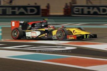 World © Octane Photographic Ltd. 2014 Formula 1 Abu Dhabi Grand Prix, GP2 Qualifying, Friday 21st November 2014. Stephane Richelmi - DAMS. Digital Ref : 1162CB1D7487