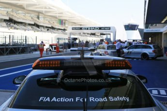World © Octane Photographic Ltd. 2014 Formula 1 Abu Dhabi Grand Prix, GP3 Race 1, Saturday 22nd November 2014. Mercedes Benz AMG SLS Safety Car. Digital Ref : 1164CB1D5730