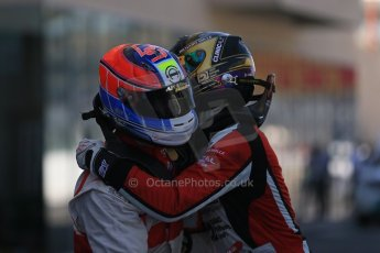 World © Octane Photographic Ltd.  Saturday 22nd November 2014. GP3 Qualifying – Abu Dhabi GP - Yas Marina Circuit, United Arab Emirates. Dean Stoneman. Koiranen GP and Marvin Kirchhofer - ART Grand Prix. Digital Ref : 1164LB1D9921