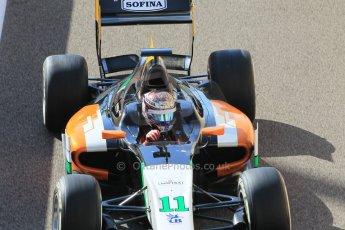 World © Octane Photographic Ltd. Sunday 23rd November 2014. GP2 Race 2 – Abu Dhabi GP - Yas Marina Circuit, United Arab Emirates. Nicholas Latifi - Hilmer Motorsport. Digital Ref: 1170CB1D9298