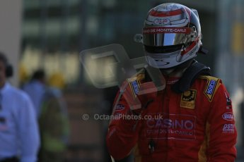 World © Octane Photographic Ltd. Sunday 23rd November 2014. GP2 Race 2 Parc Ferme – Abu Dhabi GP - Yas Marina Circuit, United Arab Emirates. Stefano Coletti - Racing Engineering. Digital Ref :1170LB1D7057