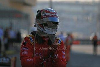 World © Octane Photographic Ltd. Sunday 23rd November 2014. GP2 Race 2 Parc Ferme – Abu Dhabi GP - Yas Marina Circuit, United Arab Emirates. Stefano Coletti - Racing Engineering. Digital Ref :1170LB1D7061