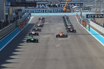 World © Octane Photographic Ltd. Sunday 23rd November 2014. GP3 Race 2 – Abu Dhabi GP - Yas Marina Circuit, United Arab Emirates. Formation lap. Digital Ref :